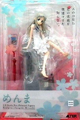 日本正版 Alter 我們仍未知道那天所看見的花名 未聞花名 本間芽衣子 面麻 1/8 模型 公仔 日本代購
