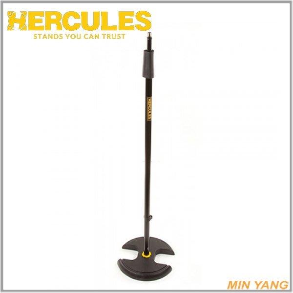 【民揚樂器】『免運優惠』HERCULES專賣 麥克風架 MS202B 直立式 圓盤底座 快速調整 舞台用 海克力斯