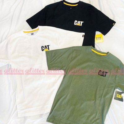 glitter。全新現貨 Caterpillar Cat Trademark Logo T恤 美國工裝老牌 卡特
