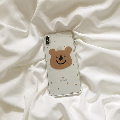 點點 小熊 iPhone12 11 11Pro Max/6/7/8/xs/xr/max Mermaid手機殼【快速出貨】