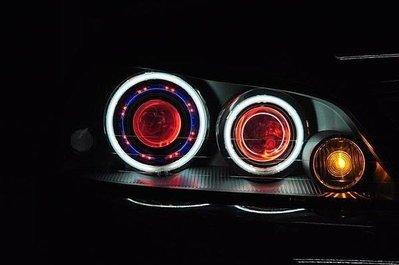 FORD 福特 TIERRA RS 遠近魚眼HID大燈模組改裝 PVC LED光圈 天使眼 H1 35瓦40瓦55瓦皆可