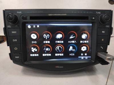 *吉祥汽車音響*2007-2012 toyota rav4原廠車美式導航cd/dvd/usb/藍芽/行車紀錄器  便宜賣