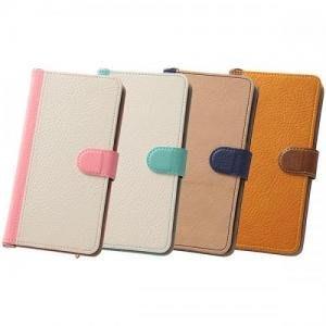 尼德斯Nydus~* 日本正版 Sony Xperia Z5 手機殼 保護殼 可立式 翻頁皮套 票卡夾 共4色