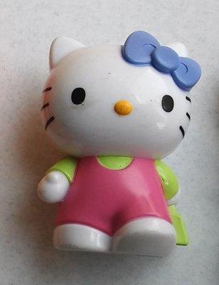 **M8-16** (裸裝無盒){Blue Box} Hello Kitty塑膠公仔玩偶/表面有使用磨擦痕跡/能接受物況
