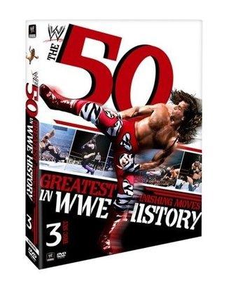 ☆阿Su倉庫☆WWE摔角 50 Greatest Finishing Moves DVD 史上50大巨星最強終結技精選輯 熱賣中 HBK UT