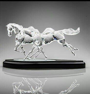 5.7折(特惠$7.5萬∼原價$13萬)施華洛世奇水晶 奔騰馬(2001年全限量1萬件)/另鸚鵡黑公牛豹swarovski