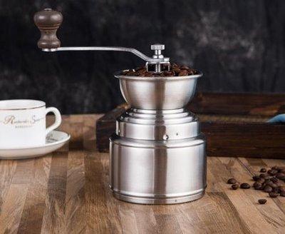 不銹鋼磨豆機 咖啡豆磨 手搖黑胡椒研磨器 手磨胡椒粒 可水洗手動