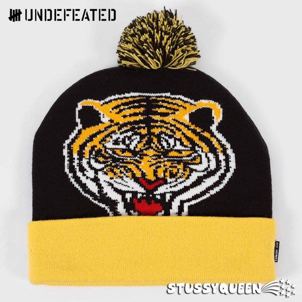 【超搶手】全新正品 2013 A/W 秋季 UNDEFEATED TIGER POM POM BEANIE 毛帽 黑色 紅色 軍綠