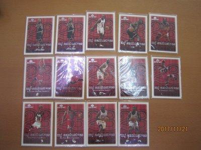 網拍讀賣~99/00~Michael Jordan~超級球星~籃球之神~喬丹~mj exclusives~普特卡~14張