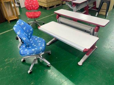 吉田二手傢俱❤首席可升降成長桌椅組 兒童書桌椅 學習桌椅 兒童桌椅 兒童成長桌椅組 書桌椅
