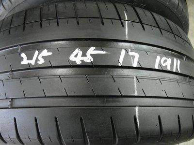 【宏勝輪胎】中古胎 落地胎 維修 保養 底盤 型號:215 45 17 米其林PS3 2條
