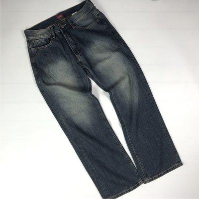 【1nsane】寬松直筒(RELAXED)水洗做舊牛仔褲 街頭休閑胖子厚實加大碼男褲