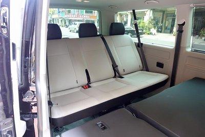 *朝陽汽車裝潢*福斯T6三人座椅改裝仰臥  原功能不變 多兩段