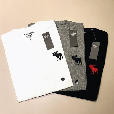 Abercrombie & Fitch 大麋鹿 刺繡Logo 短Tee