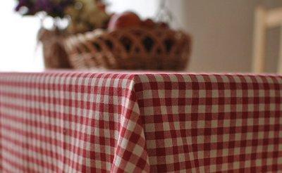 【#024 紅白格】多種尺寸的桌巾◈ ...