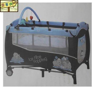 [家事達] Mother's Love 雙層遊戲床 特價 含上層架 玩具架 嬰兒床 平面