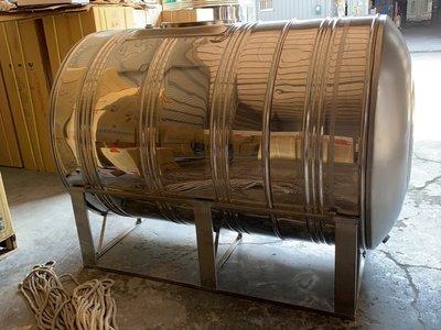 【 達人水電廣場】 不銹鋼臥式水塔1000L附腳架《臥式不鏽鋼水塔》白鐵水塔