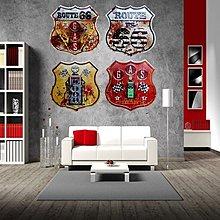 創意複古懷舊鐵藝壁飾異形鐵皮畫特色酒吧家居做舊背景牆貼裝飾畫(4款可選)