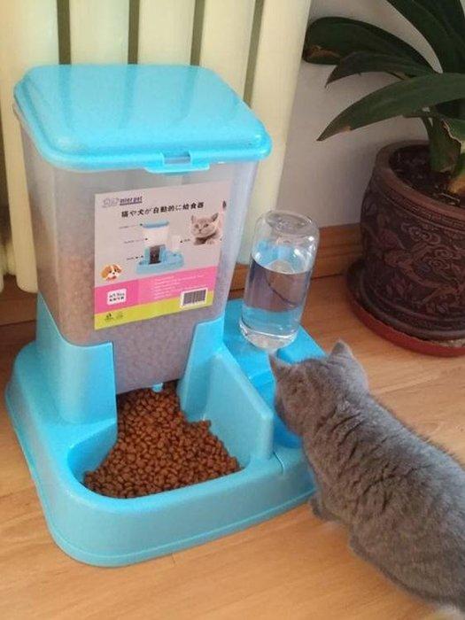 寵物碗貓咪用品貓碗雙碗自動飲水狗碗自動喂食器寵物用品貓盆食盆貓食盆