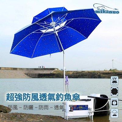 mikanuo 雙層遮陽帳 釣魚傘 超強防曬 抗雨 遮陽傘 2.2米
