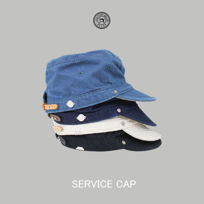 WaShiDa【D-03】DECHO日本品牌 日本製SERVICE CAP 短帽簷 扁帽 可調 - 預訂