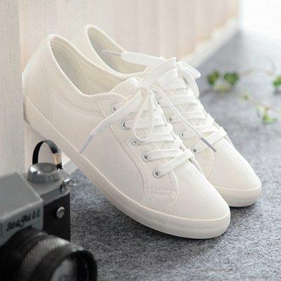 可開發票 百搭平底帆布鞋 女韓版休閒鞋z2219