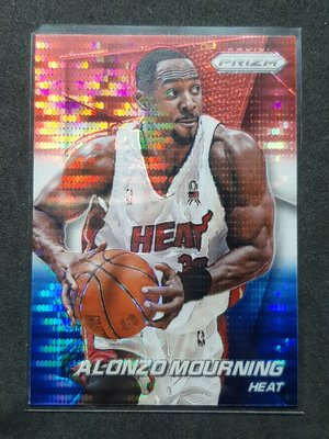 Alonzo Mourning 2014-15 Prizm Red White and Blue Pulsar