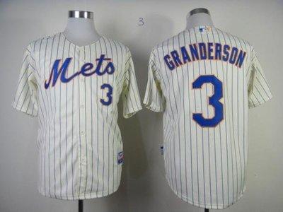 MLB紐約大都會隊球衣3號GRANDERSON球服職業棒球服比賽服開衫 ycwk608