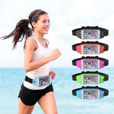 【妞妞♥3C】視窗可觸控運動腰包 夜跑步手機收納套 慢跑 iPhone6s Plus mate9 U Ultra r9s