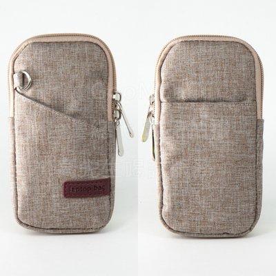 【GooMea】3免運 Samsung 三星 A51  A71 亞麻布 拉鍊款 手拿袋 手拿 斜背 咖啡