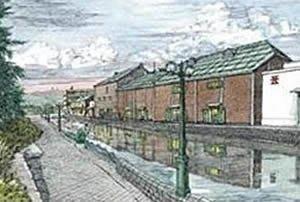 協泰拼圖舖-現貨 EPO-11-321 吉田桂二 港町 北海道 小樽運河 1000片