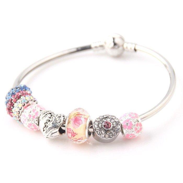 「還願佛牌」泰國 佛牌 潘朵拉 風格 串珠 手鏈 搭配 路翁 露翁 佛牌 粉紅 鑽石
