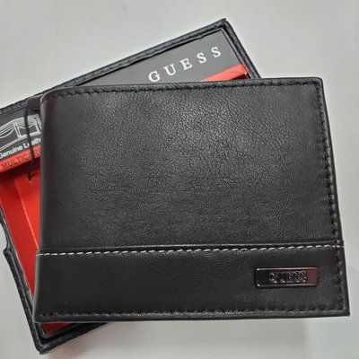 GUESS Men's Leather Passcase Wallet 男裝真皮銀包 附送禮盒 全新現貨正品