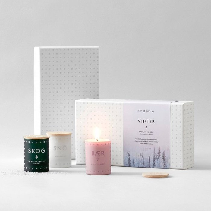 香氛 ◎ 丹麥 SKANDINAVISK 北歐 香氛蠟燭 Vinter 聖誕節 禮盒 SKOG BAER SNO