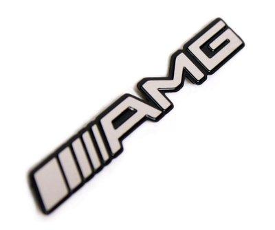 Benz AMG 鋁製車貼 w204 w211 w212 c300 e350 車標 鋁牌 新款 車身標誌 方向盤