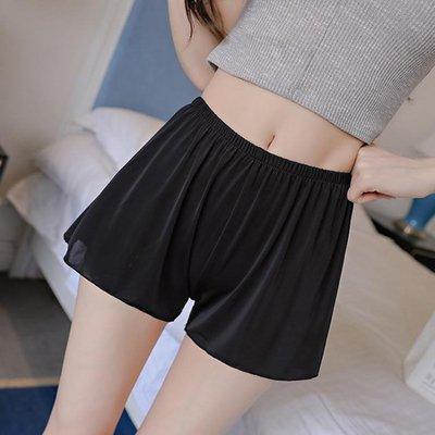 ☜男神閣☞安全褲防走光內外穿女三分打底褲薄款居家大碼胖mm200斤寬鬆短褲