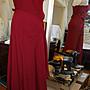 GIANFRANCO FERRE頂級黑標8成新真品玫瑰紅細肩帶長禮服--0.5折出清