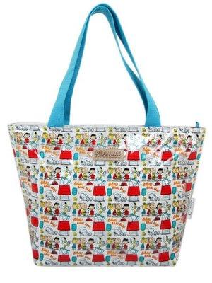 【卡漫迷】 史奴比 肩背袋 PVC 手提袋 ㊣版 史努比 Snoopy 補習袋 購物袋 查理布朗
