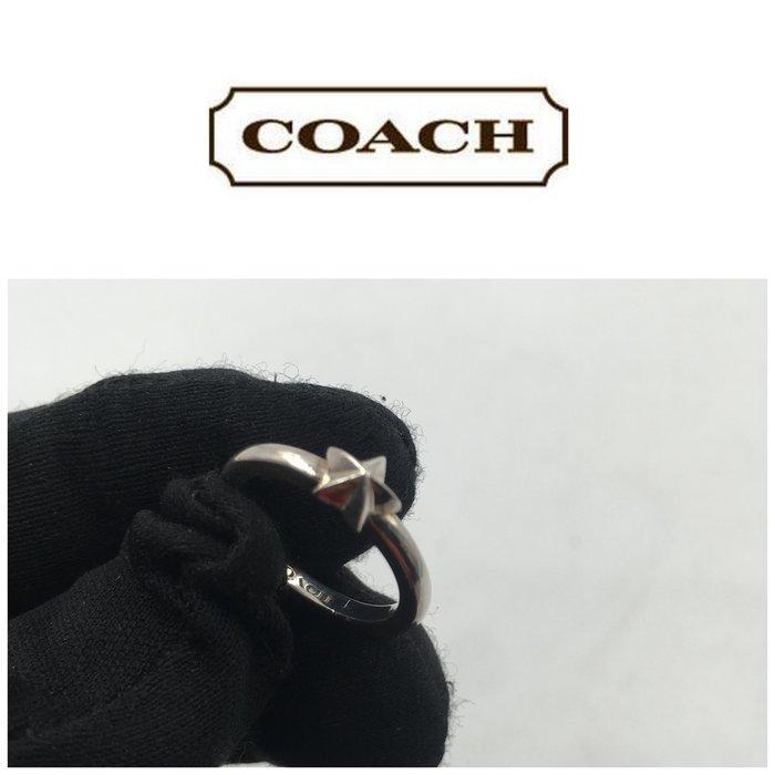 【皮老闆二店】二手真品  COACH  戒指 尾戒 銀 925 K123