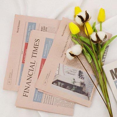 雙面復古英文報紙(2張入) 拍照道具 ...
