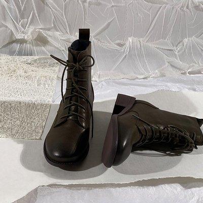 墨染·蓮花府邸冬季短靴歐美馬丁靴女夏2121新款英倫風騎士靴網紅瘦瘦靴