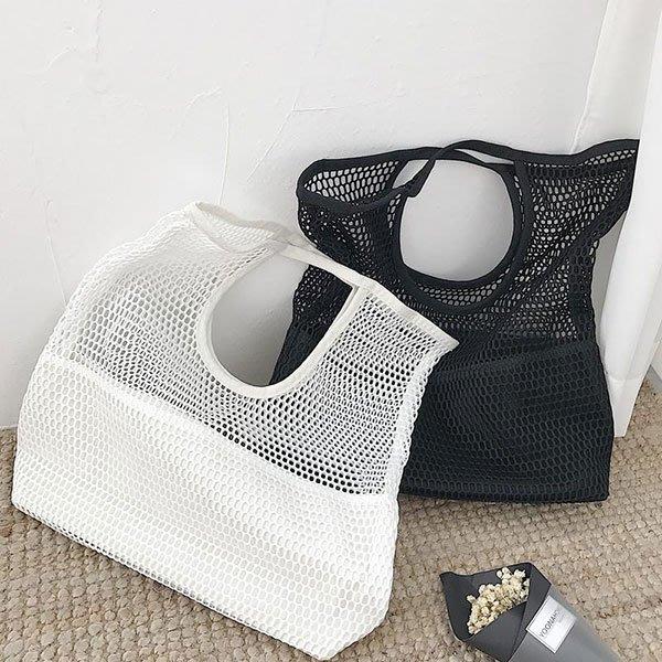 洞洞手提包 手拿包 包包 購物袋 小包 簍空 網洞 網眼 沙灘包 海灘包 游泳 運動 網紅 韓國
