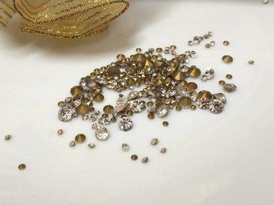 透明玻璃尖底鑽1-7mm(10克30元)水晶-補鑽-玻璃鑽-平底鑽-貼鑽-水鑽--指甲貼-手機-美甲12牛手創 高雄市