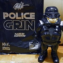 Ron English x Milk x Made By Monsters Police Grin Normal Ver