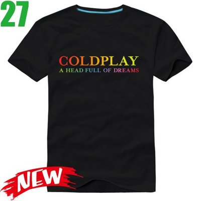 Coldplay【酷玩樂團】【A Head Full Of Dreams】短袖搖滾T恤(共6種顏色)新款上市!【賣場四】
