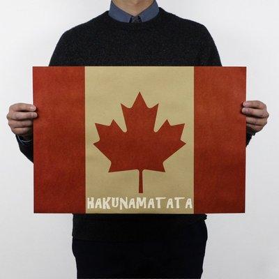 【貼貼屋】加拿大國旗 楓葉旗 Maple Leaf 懷舊復古 牛皮紙海報 壁貼 店面裝飾  568