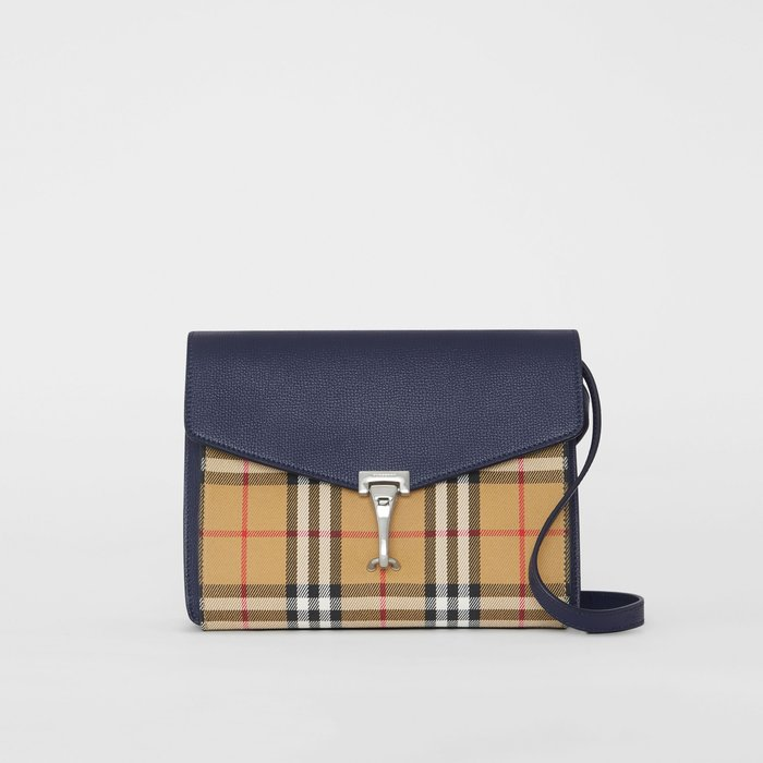 Coco小舖Burberry Small Vintage Check and Leather Crossbody Bag