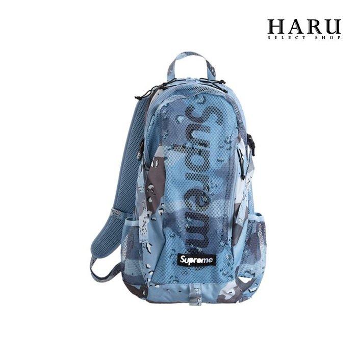 ☆HAru☆ Supreme 20SS Backpack 藍迷彩 後背包