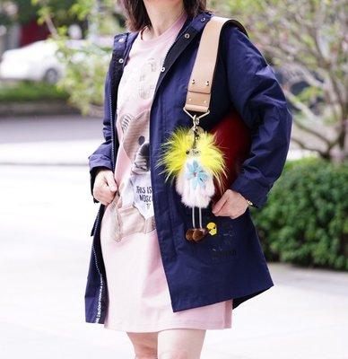 Fendi Trench Coat 摩摩風衣中長版 深藍 現貨