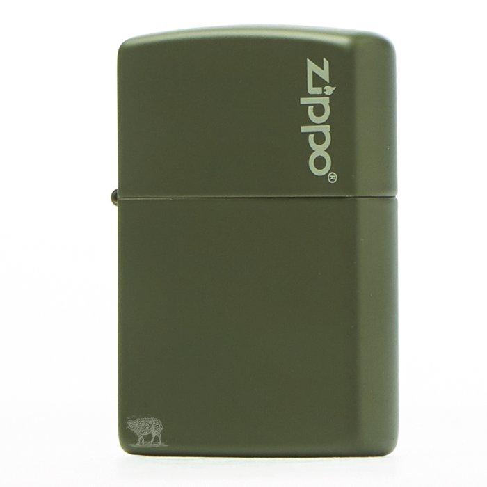 黑羊選物 Zippo 墨綠素面基本款 logo小標 美國原廠 烤漆質感 多色可挑 經典配件 菸友必備 適合送禮